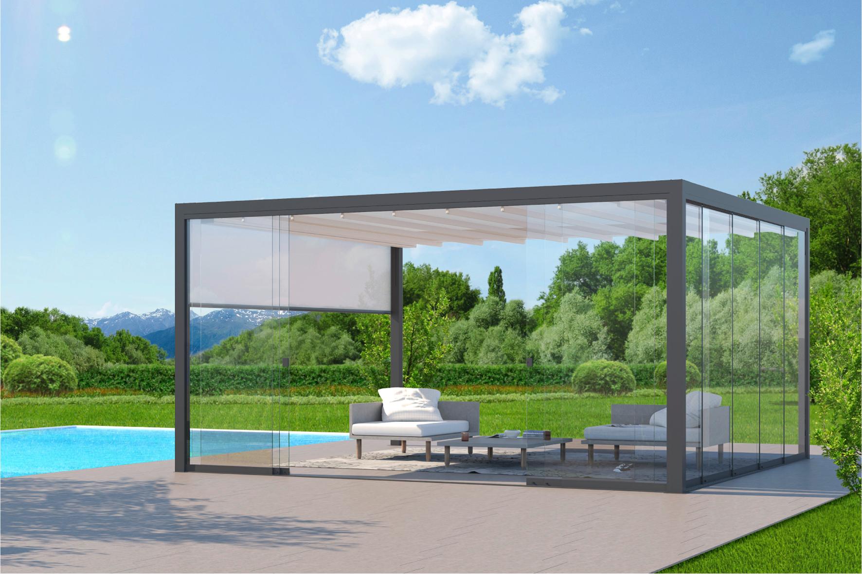 pergola q pergola mit absenkbarem dach. Black Bedroom Furniture Sets. Home Design Ideas